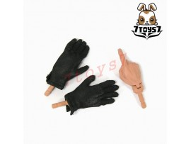 3R 1/6 GM609 German Leader_ 3 hands + Black Gloves _Germany WWII 3R005V