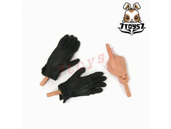 3R 1/6 GM609 German Leader_ 3 hands + Black Gloves _Germany WWII 3R005V