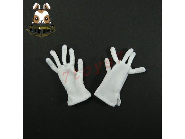 3R 1/6 GM609 German Leader_ White Gloves _Germany WWII 3R005W