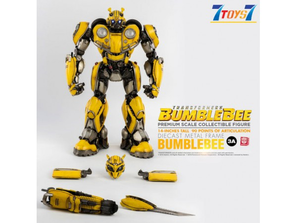 "Threezero 14"" Transformers Bumblebee_ Premium Box Set _Die-cast LED eyes 3A409Z"