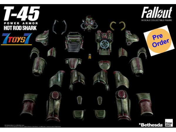 [Pre-order deposit] Threezero 1/6 Fallout T-45 Hot Rod Shark Armor Pack (Retail)_ Box _3A482Z
