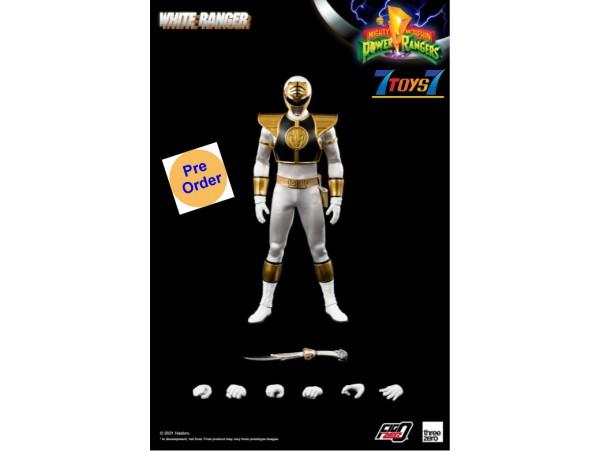 [Pre-order deposit] Threezero 1/6 Mighty Morphin Power Rangers - White Ranger_ Box Set _3A483Z