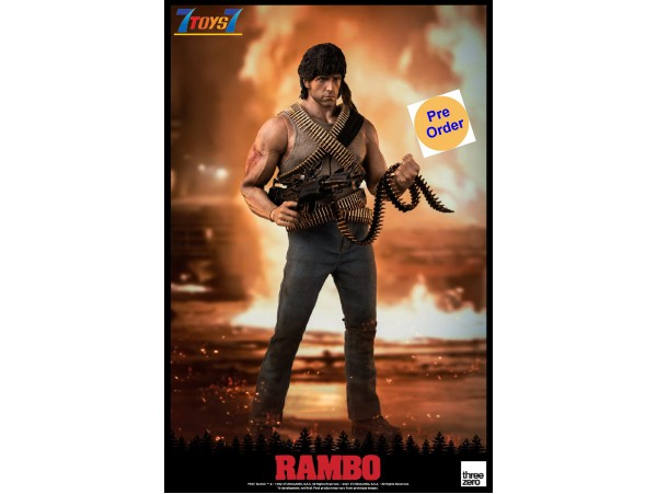 [Pre-order deposit] Threezero 1/6 First Blood - John Rambo (Retail)_ Box Set _TV Now 3A488Z