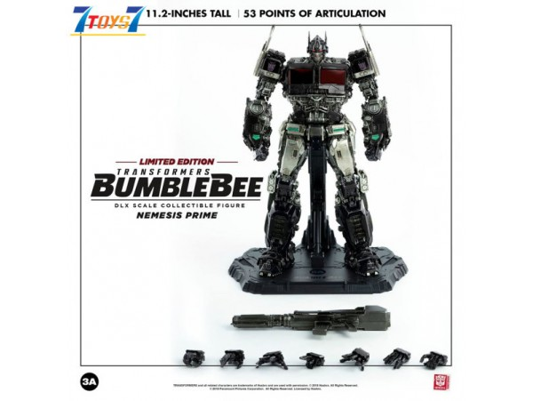 "Threezero 11.2"" Transformers DLX Bumblebee - Nemesis Prime_ Toy Fair Exclusive Box Set"