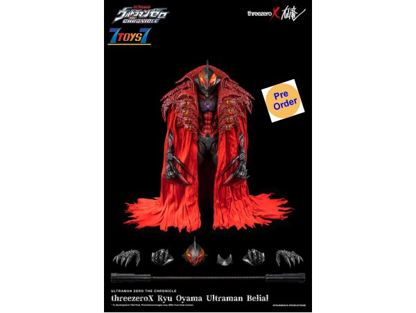 [Pre-order deposit] Threezero x Ryu Oyama 1/6 Ultraman Zero: The Chronicle - Ultraman Belial_ Box Set _3A485Z