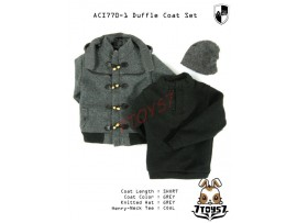 ACI Toys 1/6 770-1 Short Gray Duffle Coat_ Set #1 _Fashion hat Now AT074Z