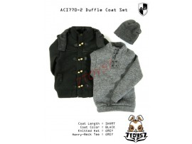 ACI Toys 1/6 770-2 Short Black Duffle Coat_ Set #2 _Fashion hat Now AT075Z