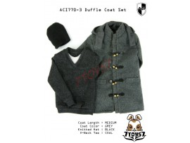ACI Toys 1/6 770-3 Medium Gray Duffle Coat_ Set #3 _Fashion hat Now AT076Z