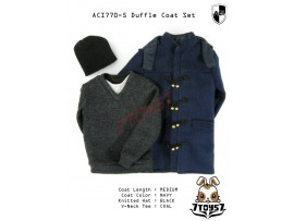 ACI Toys 1/6 770-5 Medium Navy Duffle Coat_ Set #5 _Fashion hat Now AT078Z