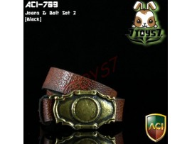 ACI Toys 1/6 Moda 709_ Brown Belt w/ Golden Metal Buckle _peeling defect AT037G