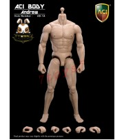 ACI Toys 1/6 AB-1A Muscular Body  Andrew _ Caucasian Body + 6 hands (No original box) AT026MA