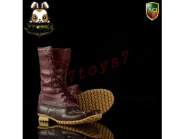 ACI Toys 1/6 Fashion Boots S4 749B_ Outdoor Hunting Boots: Dark brown _AT084B
