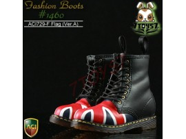 ACI Toys 1/6 Fashion Boots S2 1460_ Flag Ver.A 8 holes #729F_ Now AT029G
