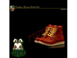 ACI Toys 1/6 ACI751-A Fashion Boots Round Toe_ Light Brown boots _Now AT070A