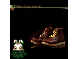 ACI Toys 1/6 ACI751-B Fashion Boots Round Toe_ Deep Brown boots _Now AT070B