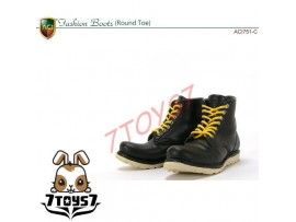 ACI Toys 1/6 ACI751-C Fashion Boots Round Toe_ Black boots _Now AT070C