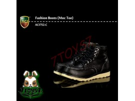 ACI Toys 1/6 ACI752-C Fashion Boots Moc Toe_ Black boots _Now AT085C