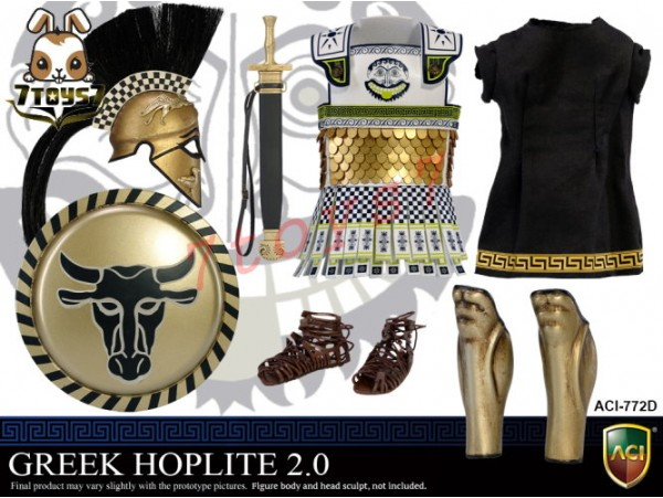 ACI Toys 1/6 Power Set - Greek Hoplite 2.0_ Suit Set D _Warriors Ancient AT100Z
