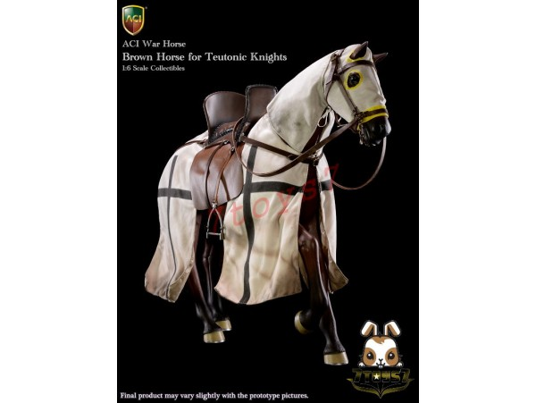ACI Toys 1/6 H03B War Horse for Teutonic Knight: Brown_ Box Set _Medieval AT093X