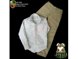 ACI Toys 1/6 Moda 722b_ Oxford Shirt and Khaki Chino Set _casual clothing AT044Z