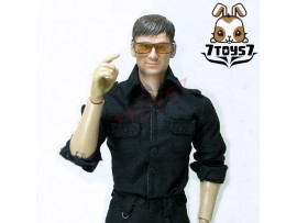 ACI Toys 1/6 Moda 747_ Black Military Shirt _Long Sleeves Now AT039A