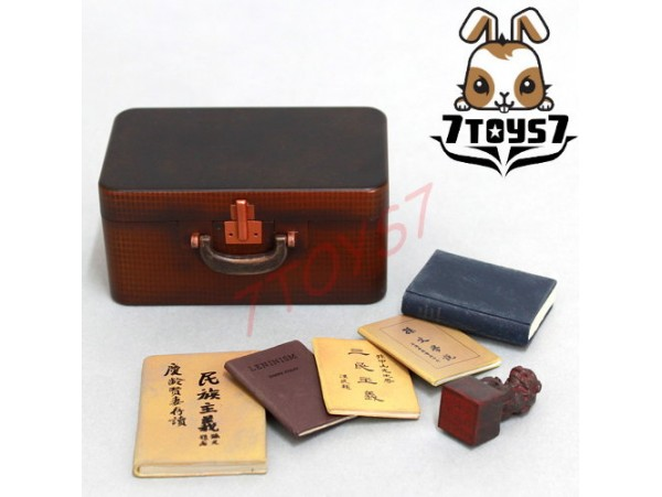ACI Toys 1/6 Sun Yat Sen Accessories_ Suitcase + 5 Books _AT022G