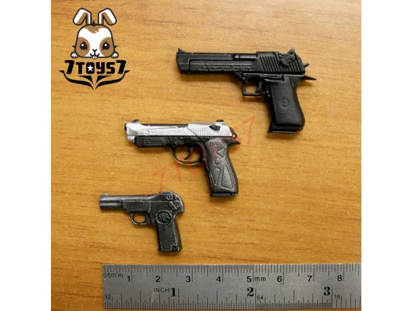ACI Toys 1/6 Pistol Set #A _ Desert E 90 Two Browning _Toys gun Firearm AT033W