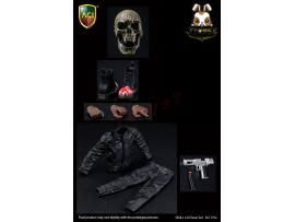 ACI Toys 1/6 Skull Power 2.0 Pistol + Toe Boots_ Set _AT105A
