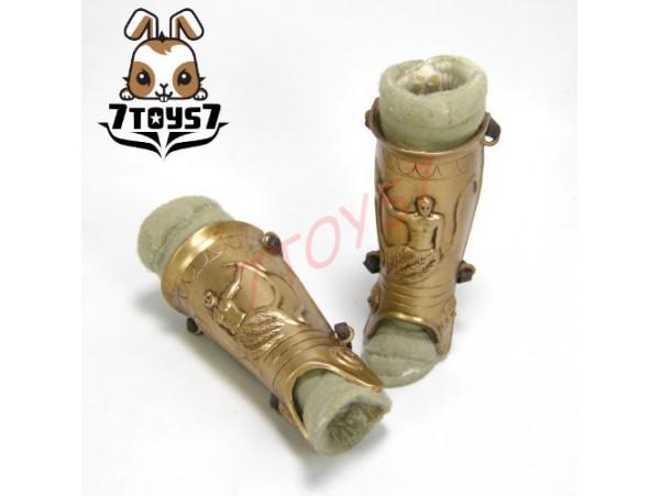 ACI Toys 1/6 Gladiator Flamma_Greave and Leg Armor x 2_Ancient Roman Warriors AT023H
