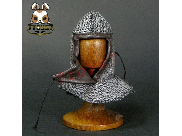 ACI Toys 1/6 ACI24C Templar Knight Banner Holder_Chain Mail Coif_Crusade AT081D