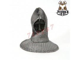 ACI Toys 1/6 ACI24A Templar Knight Brother_ Chain mail coif w/ faked Head_AT079O