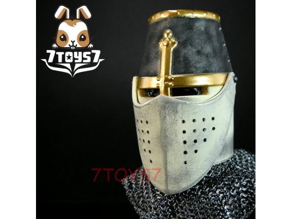 ACI Toys 1/6 ACI24A Templar Knight Brother_ Helmet + faked head_Crusader AT079J