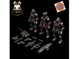 [Pre-order] Beaver 1/28 Acid Rain: Bucks Team Trooper 2.5 Soldier_ Set of 3 _BV009Y