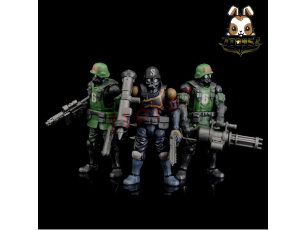 Beaver 1/28 Acid Rain: Military Infantry K6 Jungle Soldier_ Set of 3 _Now BV002Z