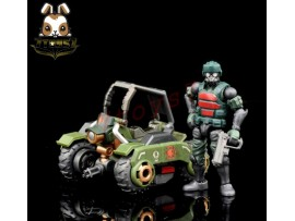 Beaver 1/28 Acid Rain: Military Infantry K6 Jungle Speeder MK1K w/ Soldier_ Set _BV007Z