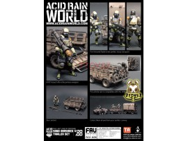 ORITOY 1/18 Acid Rain FAV-A06 Sand Armored Trailer_ Set _OT026C