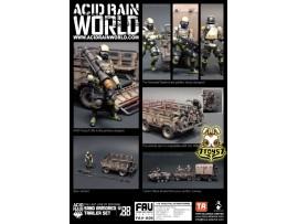 ORITOY 1/18 Acid Rain FAV-A06 Sand Armored Trailer_ Set _OT026C