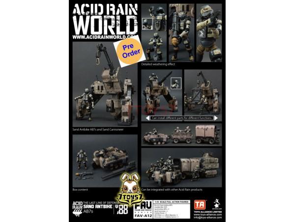 [Pre-order deposit] Toys Alliance 1/18 FAV-A12 Acid Rain - Sand Antbike AB7s_ Box Set _OT032Z