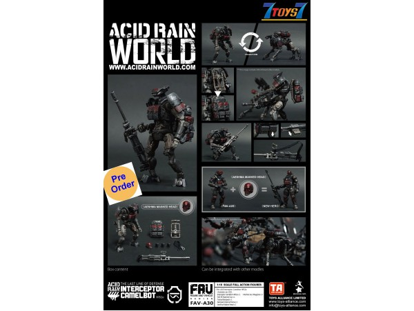 [Pre-order deposit] Toys Alliance Acid Rain 1/18 FAV-A30 Interceptor Camelbot HR52e_ Box Set _OT044Z