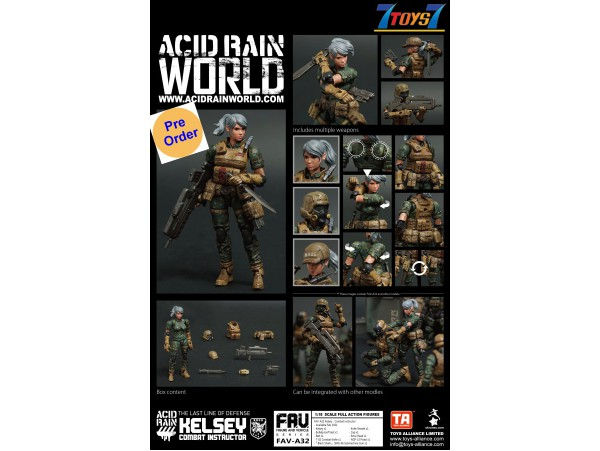 [Pre-order deposit] Toys Alliance Acid Rain 1/18 FAV-A32 Kelsey - Combat Instructor_ Box Set _OT046B