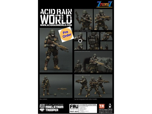 [Pre-order deposit] Toys Alliance Acid Rain 1/18 FAV-A41 Maelstrom Trooper_ Box Set _OT066Z