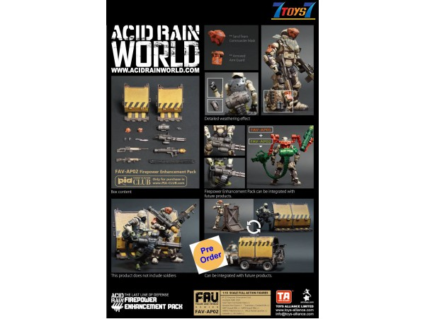 [Pre-order deposit] Toys Alliance Acid Rain 1/18 FAV-AP02 Firepower Enhancement Pack_ Box Set _OT053Z