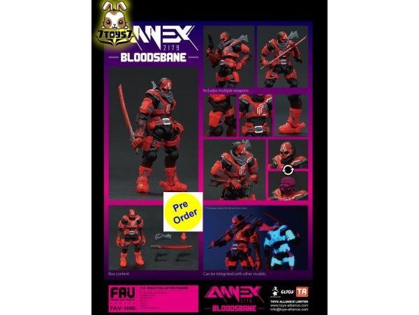 [Pre-order deposit] Toys Alliance Acid Rain 1/18 FAV-H06 Annex 2179 - Bloodsbane_ Box Set _OT074Z