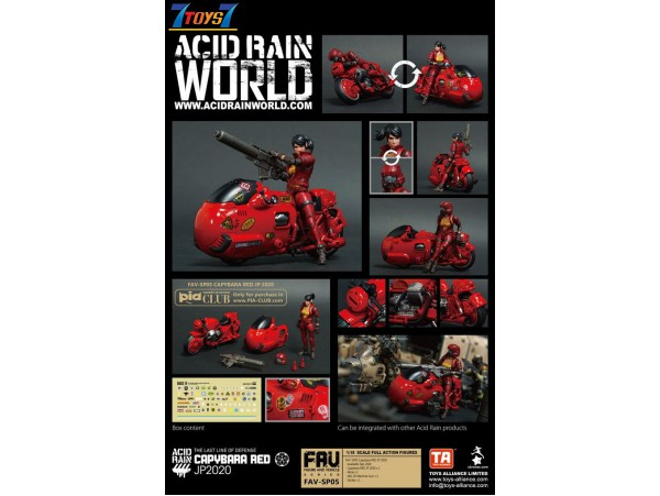 Toys Alliance Acid Rain 1/18 FAV-SP05 Capybara RED JP 2020_ Box Set _OT045Y