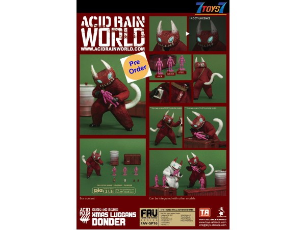 [Pre-order deposit] Toys Alliance Acid Rain 1/18 FAV-SP16 Xmas Luggans - Donder_ Box Set _OT057B