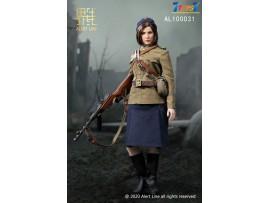 Alert Line 1/6 AL100031 WWII Soviet red Army female NKVD_ Box Set _Now AL007Z