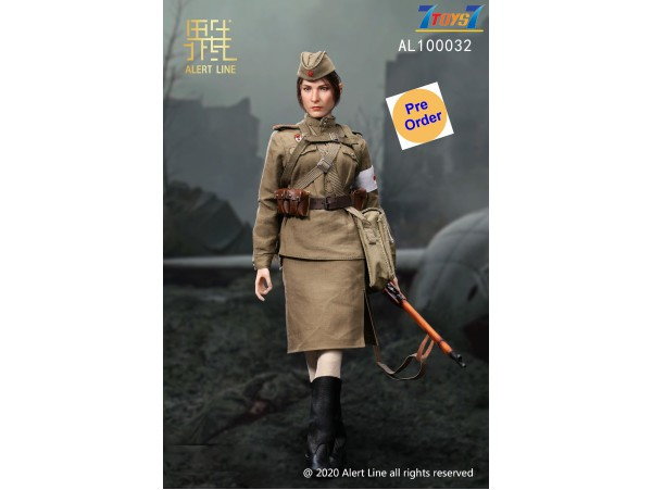 [Pre-order deposit] Alert Line 1/6 AL100032 WWII Female Medical Soldier_ Box Set _Soviet AL008Z