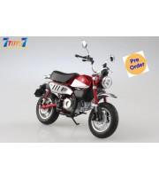 [Pre-order deposit] Aoshima 1/12 Honda Monkey125 Motorcycle: Pearl Nebula Red_ Set _AO004A