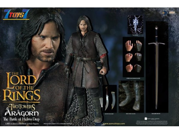 Asmus Toys 1/6 LOTR025 Lord of The Rings: Battle of Helm's Deep - Aragorn_ Box Set _AS069Z