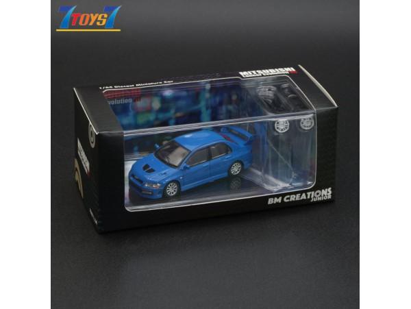 BMC 1/64 Mitsubishi Lancer Evolution VII - Blue (Right Hand Drive)_ Diecast Model Car _BMC002A